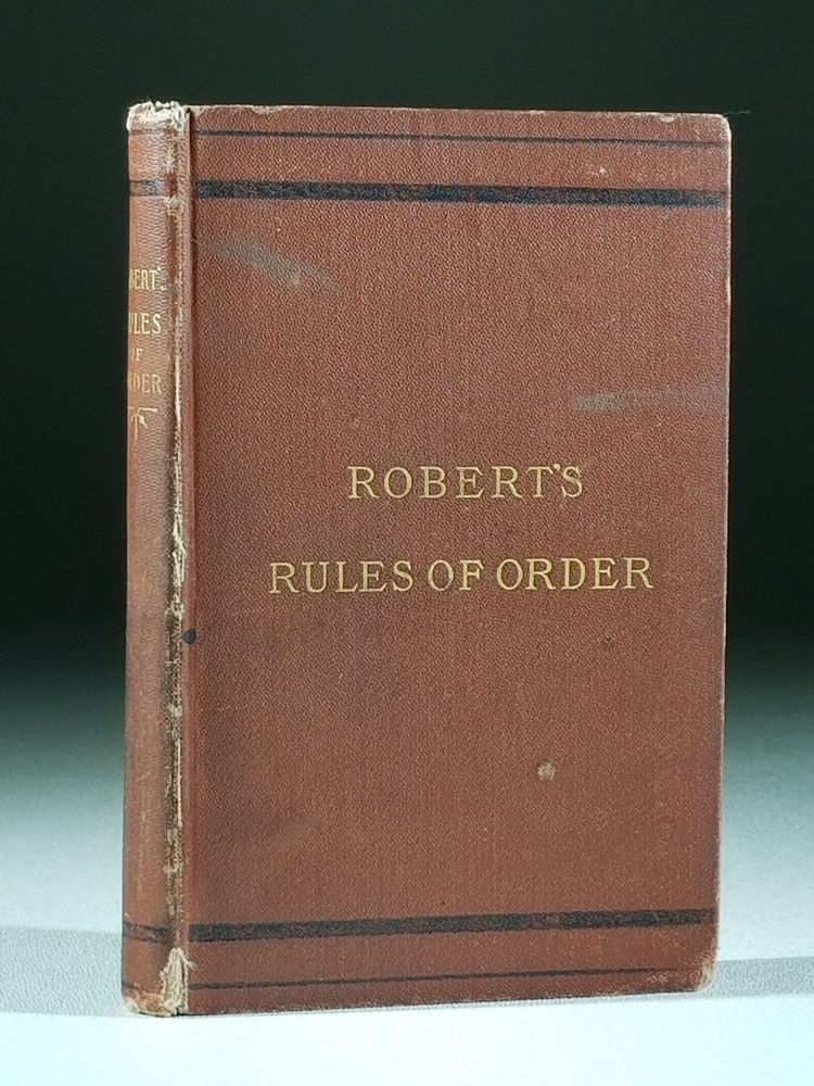 Pocket Manual Rules of Order for Deliberative Assemblies (Signed). Henry Robert, artyn.