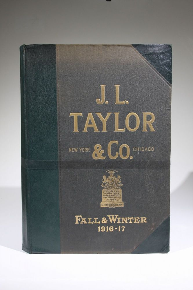 Fall & Winter 1916-17 (cover title, menswear fabric swatch book). J. L. Taylor, Co.