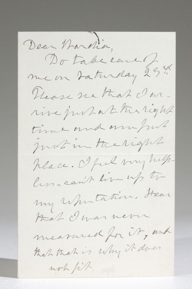 Autograph Letter Discussing Speaking Engagements, Consequent Fatigue. Julia Ward Howe.