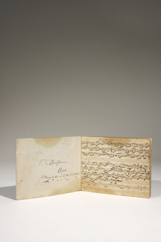 Manuscript Book of Sheet Music Owned by F. E. Brigham, 3rd Brigade Band, Third Division, 24th Union Army Corps. Civil War Brigade Bands.