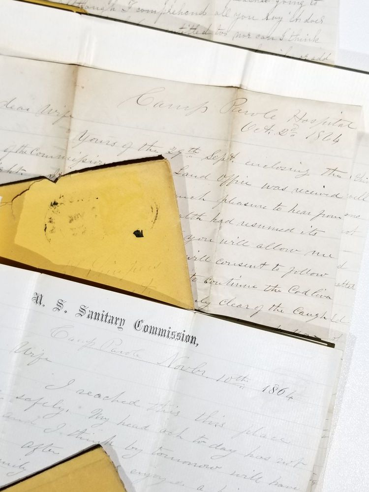 Archive of Letters Between a Maryland Wife and Her Surgeon Husband with the 6th Maryland Volunteer Regiment at Camp Parole, Annapolis. Civil War Letters.