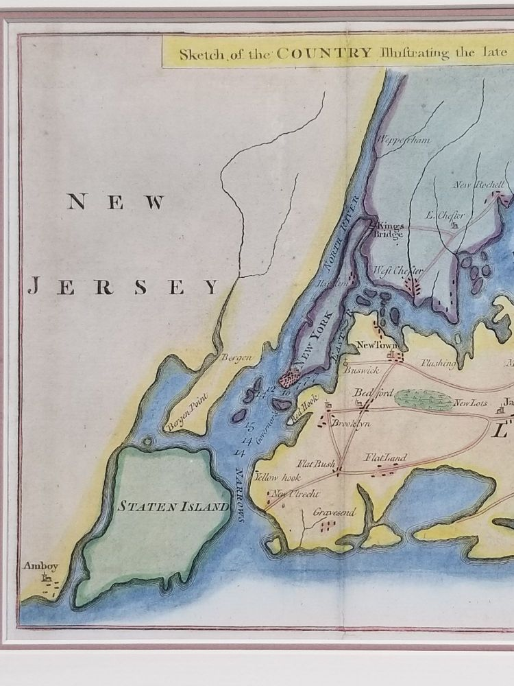 Sketch of the Country Illustrating the Late Engagement in Long Island. Battle of Long Island.