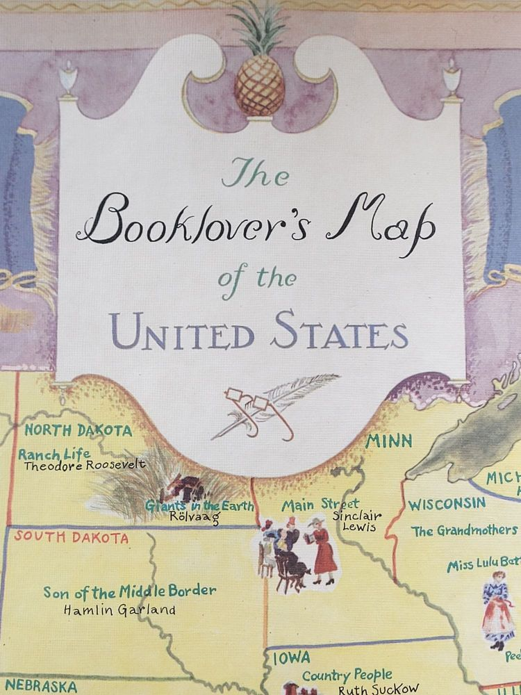 The Booklover's Map of the United States. Amy Jones.