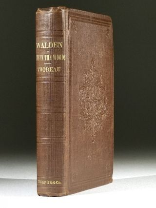 Walden; Or, Life in the Woods. Henry Thoreau, avid