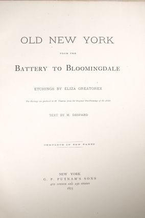 Old New York, from the Battery to Bloomingdale