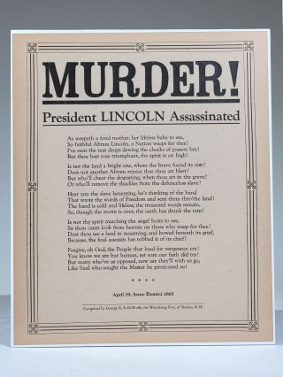 MURDER! President Lincoln Assassinated. George G. B. DeWolfe