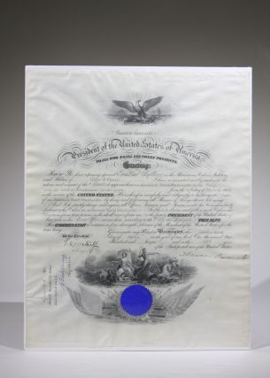 Signed Naval Commission. Theodore Roosevelt