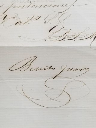 Signed Letter to Edgar Conkling of Cincinnati, Dated February 26, 1861, Mexico City