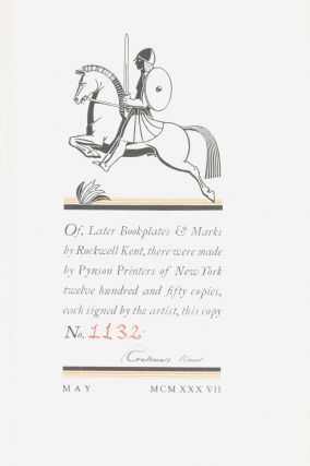 Later Bookplates and Marks of Rockwell Kent (SIGNED, with Prospectus laid in)