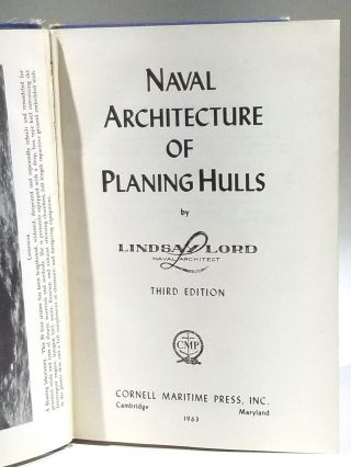 Naval Architecture of Planing Hulls