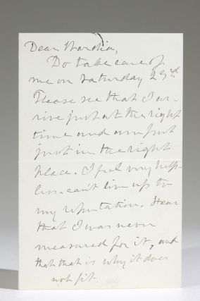 Autograph Letter Discussing Speaking Engagements, Consequent Fatigue. Julia Ward Howe