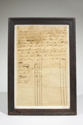 Manuscript Document to Engage the Services of Protestant Episcopal Minister Reverend John Stewart...