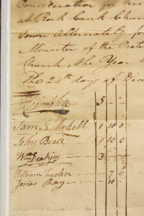 Manuscript Document to Engage the Services of Protestant Episcopal Minister Reverend John Stewart for the Year 1786