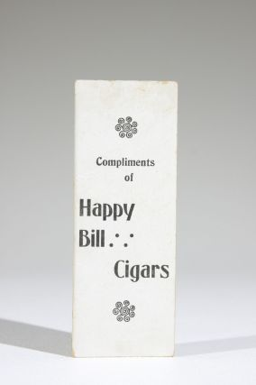 Compliments of Happy Bill Cigars. I Kick for Happy Bill Cigars. (Mechanical Cigar Trade Card)
