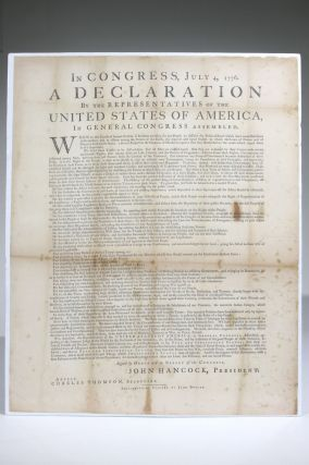 In Congress, July 4, 1776. A Declaration By the Representatives of the United States of America,...