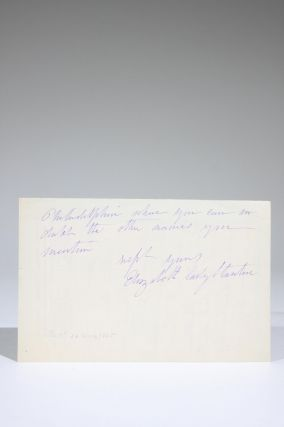 Autograph Letter, Signed, on National Woman Suffrage Association Stationery