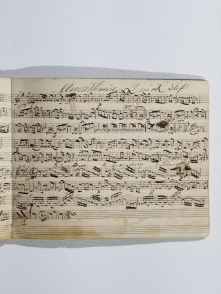 Manuscript Book of Sheet Music Owned by F. E. Brigham, 3rd Brigade Band, Third Division, 24th Union Army Corps