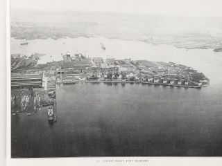 Aeroplane Views of Baltimore Harbor and Approaches. Baltimore, United States Navy, Harbor Board...
