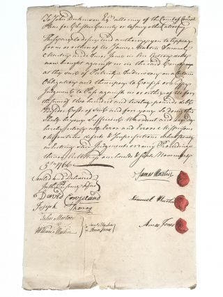 1766 Legal Document Authorizing Attorney John Dickinson to Settle a Judgment for Three...