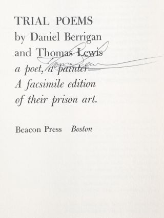 Trial Poems (Signed twice, with an original drawing by Lewis)