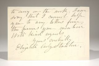 Autograph Letter to Dr. Charles E. Rice in Response to his Request for Letters