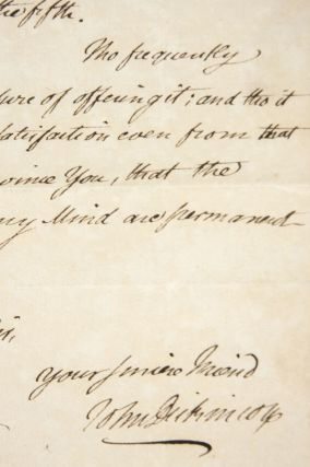 Autograph Letter to Daniel Clymer, Regarding Gift of Books. John Dickinson