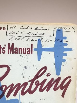 Students' Manual: Bombing -- RESTRICTED