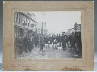 1899 Photograph of Trout Fishermen with their Catch in Downtown Skagway, Alaska