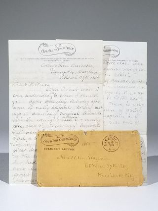 """Annapolis is, of course, a secesh town..."" Autograph Letter Signed, from U.S. Christian..."
