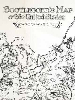 "Bootlegger's Map of the United States ""Honi soit qui mal y pints!"""