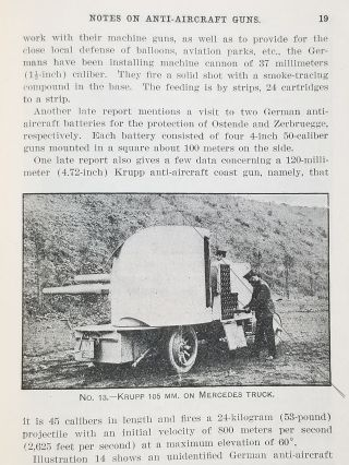 CONFIDENTIAL—FOR OFFICIAL USE ONLY - Notes on Anti-Aircraft Guns - Compiled at the Army War College From the Latest Available Information – April, 1917