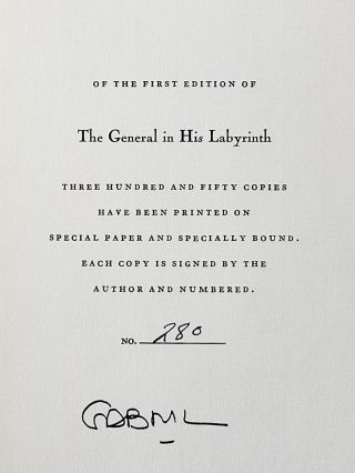The General in His Labyrinth (Signed)