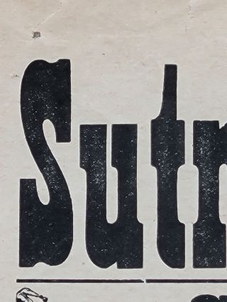 Sutro Baths. Sunday, June 26 at 2:30 P.M. Fifth Grand Soldier's Day Swimming Races...