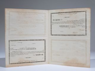 New-Castle and French-Town Turnpike Capital Stock Certificate (sheet of four)