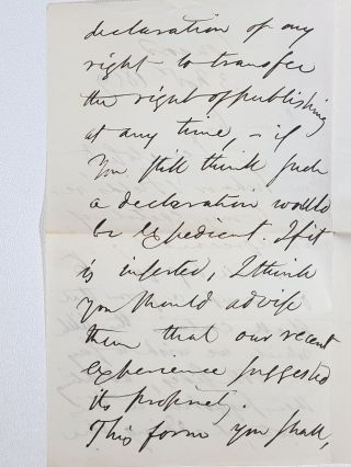 Emerson's Works, with a holographic letter signed by Emerson tipped into Essays: First Series